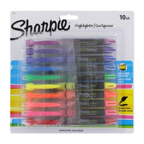 sharpie-highlighters-chisel-tip-assorted-colors-10-pack