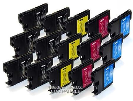 15 Cartouche d'encre pour Imprimante Brother DCP 195C - Cyan / Jaune / Magenta / Noir