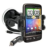 In-Car Windscreen Phone Suction Holder/ Mount and Charger for HTC Range Such as Desire C / Z/ HD/ S/ One X / One S / One Vby Modern-Tech