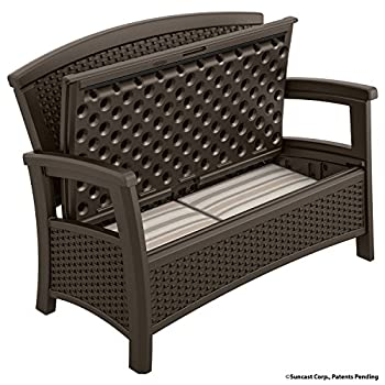 Suncast ELEMENTS Loveseat with Storage, Java