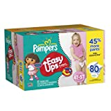 Pampers Easy Ups Value Pack Girl Size 4T/5T Diapers 80 Count
