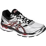 ASICS Mens Gel-Cumulus 16 Running Shoe,White/Black/Red,8.5 M US
