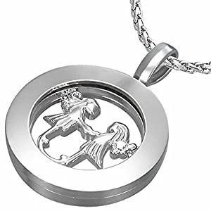 Fashion Alloy Gemini Zodiac Sign Inner-roller Circle Pendant