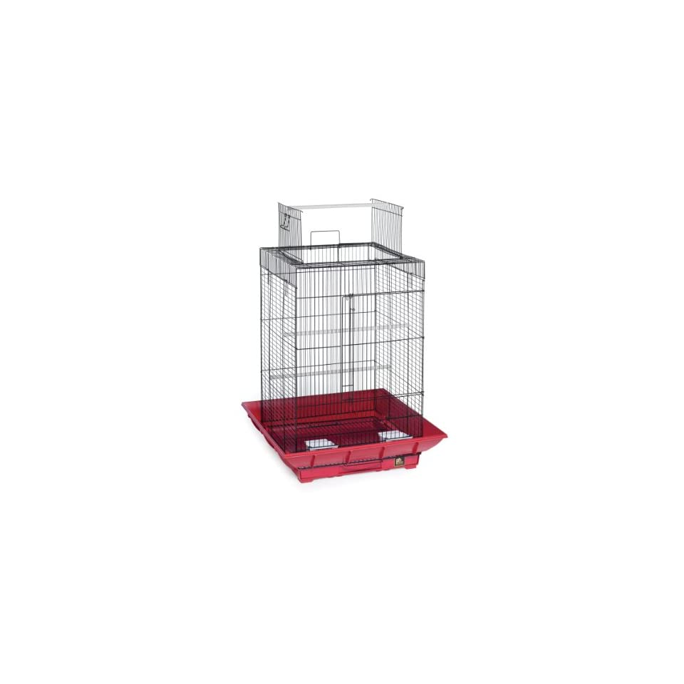Prevue Hendryx SP851R/B Clean Life Play Top Cage, Red and Black