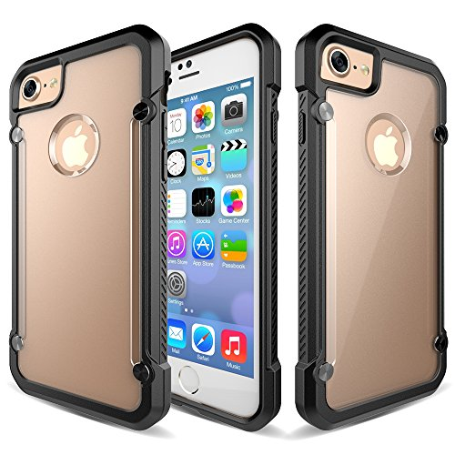 iPhone 7 Case, Asstar Slim Crystal Clear PC Back TPU Bumper Cushion Premium Shock Absorption Scratch Resistant Drop Protection comfortable grip For Apple iPhone 7 2016 (Black) (120mm Case Fan Slim compare prices)