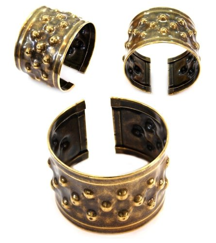 Old Brass Ethnic Fashion Bangle (Nickel Free)
