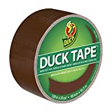 Duck Brand 1304965 Colored Duct Tape, Brown, 1.88-Inch by 20 Yards, Single Roll