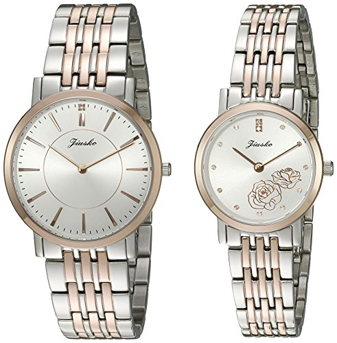 Jiusko-Couples-520MSRG012-His-and-Hers-Swiss-Quartz-Stainless-Steel-Dress-Watches-Set-of-2
