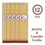 Panchratan Perfumed Charcoal Incense Sticks ( Pack Of 12, 23cms, Jasmine And Lavender Fragrance )