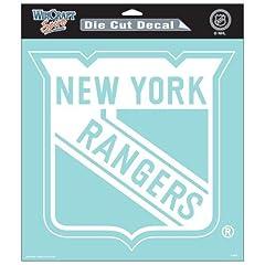 Buy Die Cut Decal 8x8 New York Rangers 8x8 White Die Cut Decal National Hockey League... by fannsporan