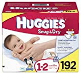 Huggies Snug & Dry Diapers, Size 1-2, 192 Count - Packaging May Vary