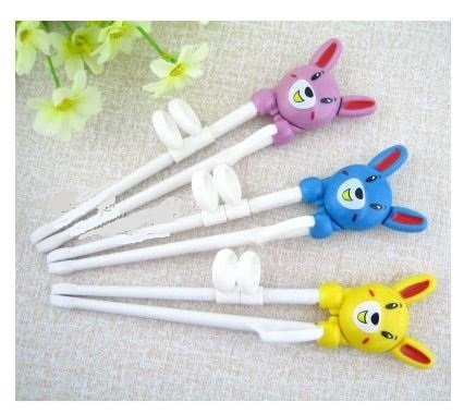 Children practice training chopsticks child early learning baby learning to eat with chopsticks chopsticks tableware (pink)