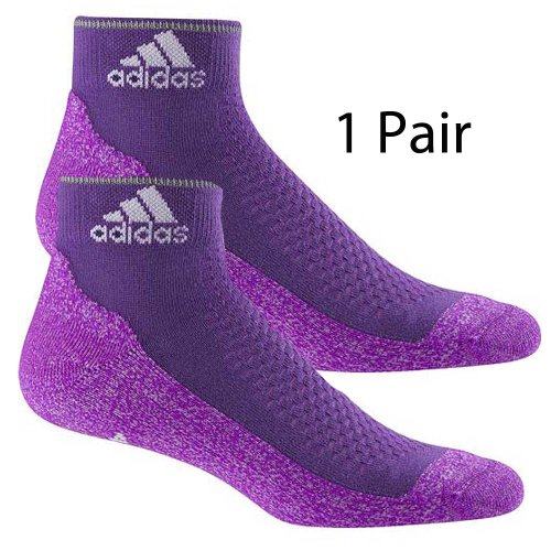 1 Pair of Adidas Running Gym Purple Socks X18149