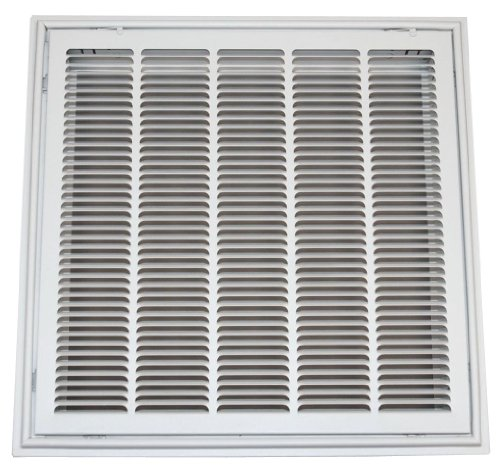 Speedi-Grille TB-SFG 24-Inch by 24-Inch White Drop Ceiling T-Bar Stamped Face Return Air Filter Grille (Drop Ceiling Return Vent compare prices)