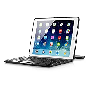 Arcadia Arclight 2.0 - Wireless Bluetooth Clamshell iPad Keyboard Case. Compatible: iPad Air. (Polycarbonate Case, Matte Finish)