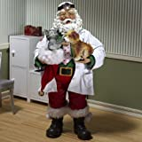 Kurt Adler Fabriche 11 1/2-Inch 'Best Care Anywhere' Veterinarian Santa