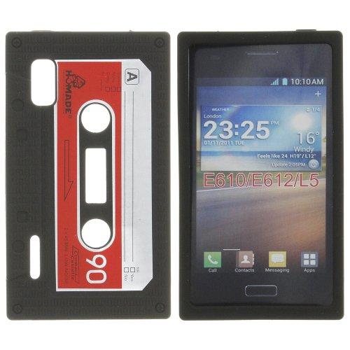 Tape Case Silicon Case Tasche Hülle Cover schwarz black für LG E610 Optimus L5