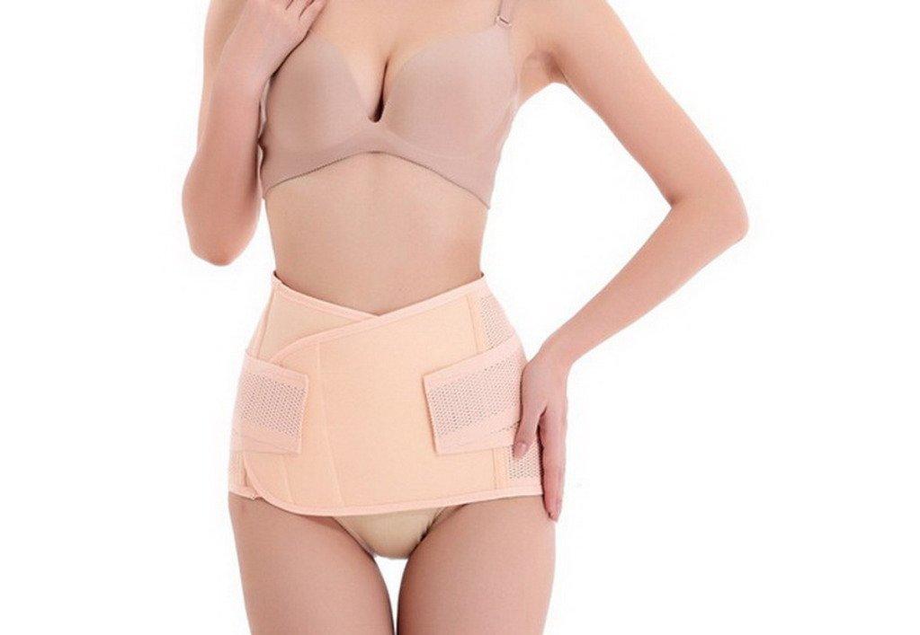 EQMUMBABY elastisch Atmungsaktiv Bauchband Bauchgürtel Nach Geburt Körper Gestaltung Gürtel Pelvis Correction Slimming Belt abnehmen Gürtel Schlankheits-Gürtel - Gr. L