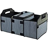 Trunk Organizer and Cooler Set Houndstooth