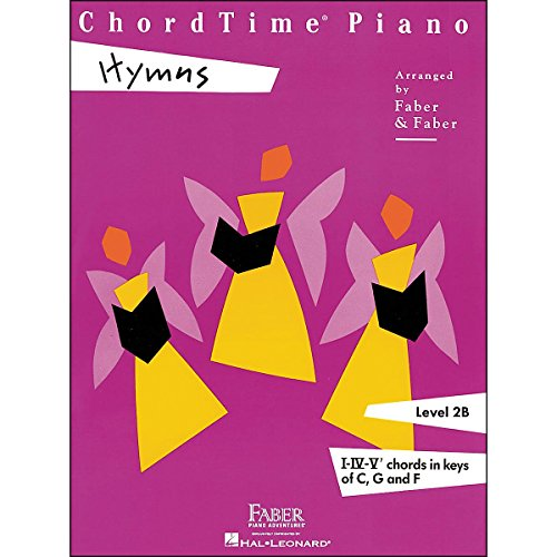 Faber Piano Adventures Chordtime Piano Hymns Book Level 2B Chords In Keys C, G, And F – Faber Piano