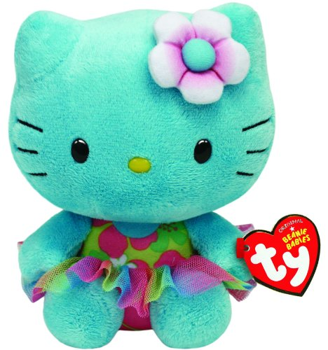Ty Beanie Babies Hello Kitty Turquoise Plush