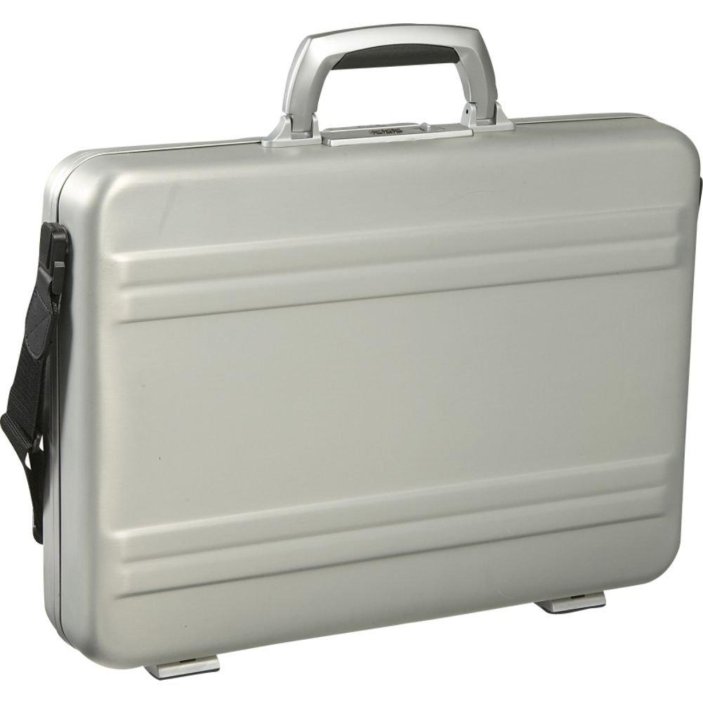 Pro Aluminium Large Deep Executive Laptop Padded Briefcase Attache Case Silver