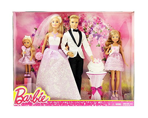 Barbie I Can Be A Bride Wedding Day Set Exclusive 4 Pack - Barbie, Ken, Stacie, and Chelsea (I Can Be Barbie compare prices)