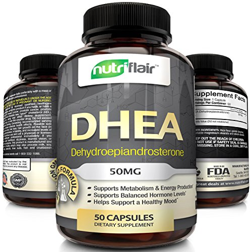 Premium-Quality-DHEA-Supplement-50MG-50-Capsules-Promotes-Balanced-Hormone-Levels-for-Men-Women-slows-down-Aging-Process-Supports-Sex-Drive-Restores-Muscle-Strength-Non-GMO-Made-in-USA