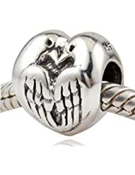 Choruslove Two Turtle Doves Charm Authentic 925 Sterling Silver Bead For Valentines Gift