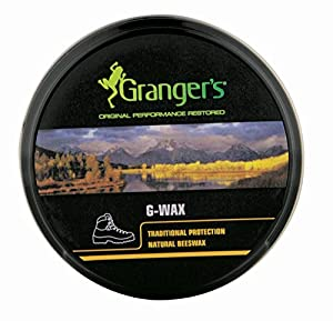 Grangers G-Wax Traditional Beeswax Protection Proofer - Black, 80g