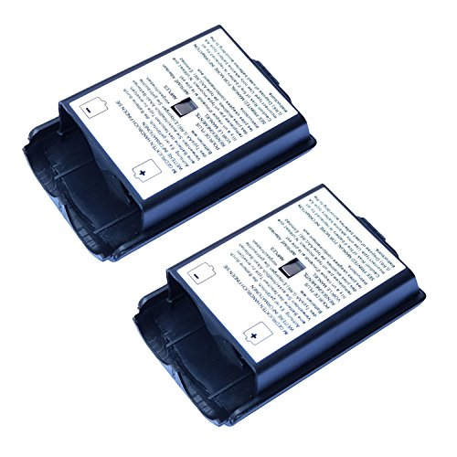 2x Black Battery Cover For Microsoft Xbox 360 Wireless Controller (Cover Controller Xbox 360 compare prices)
