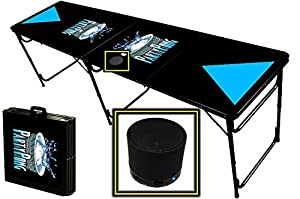 8-Foot Professional Beer Pong Table w/ Bluetooth Speaker - Party Pong Logo