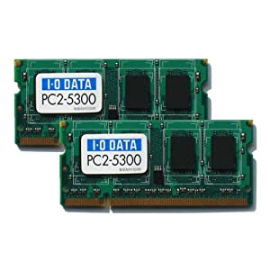 I-O DATA PC2-5300 (DDR2-667) S.O.DIMM 2GBx2 SDX667-2GX2/EC
