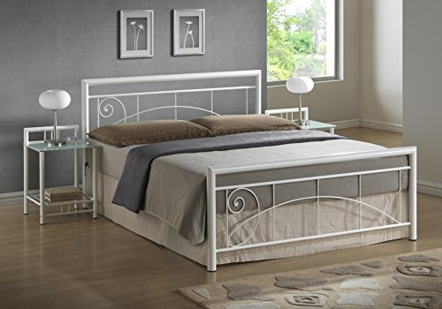 Cheap 4ft6 Double Lara Bed Metal Frame And Mattress Available In
