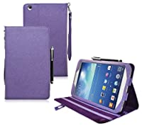 COD(TM) Stand Leather Case For Samsung Galaxy Tab 3 8 inch 8.0 (Purple) from CrazyOnDigital