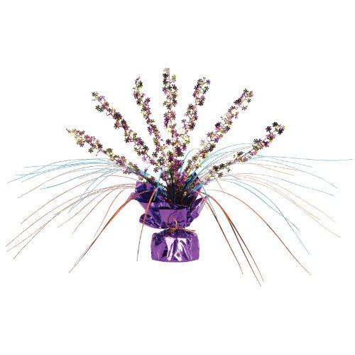 Beistle 57918 1-Pack Retro Flowers Gleam 'N Spray Centerpiece, 11-Inch