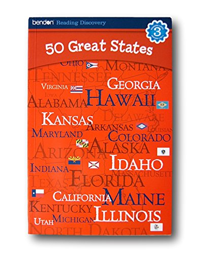 Bendon Reading Discovery Book - 50 Great States - Grades 2-4 - 1