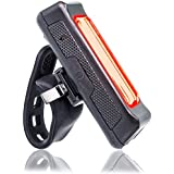 Rear Bike Light - 100 Lumen LED Tail light Comes with USB Cable That Can Charge From a Laptop or Wall Charger - Solid Mounting Strap Will Fit Anywhere on Your Bicycle and Won't Move Around When Riding - Perfect Red Bike Light for Safety and Performance.