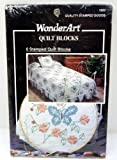 WonderArt 6 Stamped Quilt Blocks Butterfly Circle 16