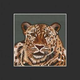 King Silk Art, 100% Handmade Suzhou Silk Embroidery, Unframed Art 12x12 inch - Tiger 34190