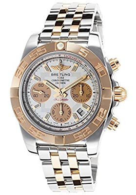 Breitling Men's Chronomat 41 Chronograph Two-Tone Stainless Steel Mother of Pearl Dial