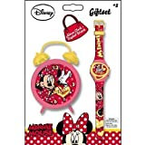 Minnie Mouse Watch and Clock Gift Set