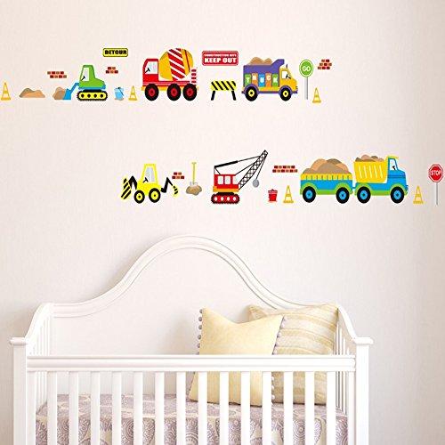 verkauf ufengke karikaturautos lkw z ge fahrzeuge wandsticker kinderzimmer babyzimmer. Black Bedroom Furniture Sets. Home Design Ideas