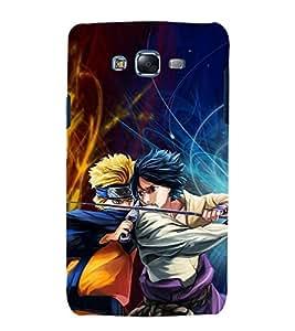 printtech Naruto Anime Fighter Cartoon Back Case Cover for Samsung Galaxy A7 / Samsung Galaxy A7 A700F