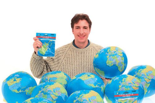 Castle Toys Learning & Development: Inflatable World Globe, Blue