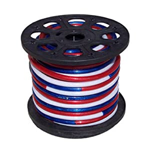 150' 120-volt Rope Lights (Red,White & Blue) w/ Acc