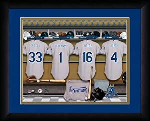 MLB Personalized Locker Room Print Black Frame Customized Kansas City Royals by You