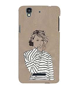 Fashion Diva In T Shirt 3D Hard Polycarbonate Designer Back Case Cover for YU Yureka Plus :: Yu Yureka PlusYU5510A