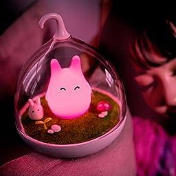 WOMHOPE Animal Children\'s Night Lights Hand-held Design Touch Sensor Vibration Birdcage Lamp Bird Night Lights - Charging - for Kids, Baby ,Valentines Gift,Outdoor Lamp (Pink (B))