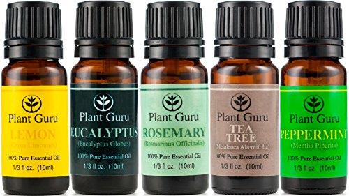 ★Respiratory Set★ Essential Oil Variety Set - 5 Pack - 100% Pure Therapeutic Grade 10Ml. Set Includes- (Eucalyptus, Rosemary, Tea Tree, Peppermint, Lemon)